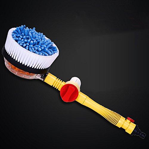 SODIAL portatil coche automatico de cepillo de la espuma profesionales espuma del aerosol cepillo giratorio de autolimpieza Lave las herramientas interruptor de la corriente 150668