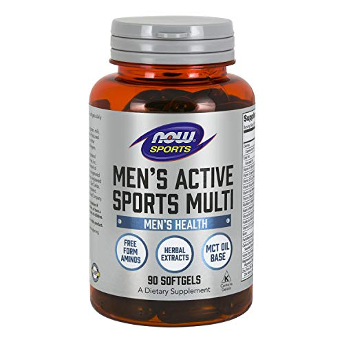 NOW Sports Nutrition, Men's Extreme Sports Multi with Free-Form Amino Acids, ZMA®, Tribulus, MCT Oil, and Herbal…