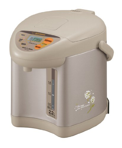Zojirushi CD-JUC22CT Micom 2.2-Liter Water Boiler and Warmer, Champagne Gold image