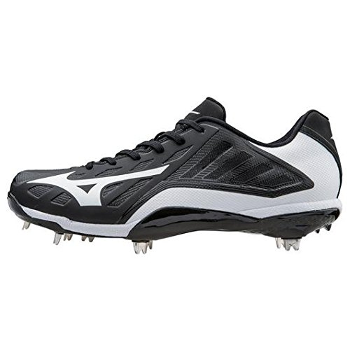 Mizuno Men's Heist IQ Baseball Cleat, Black/White, 10 M US