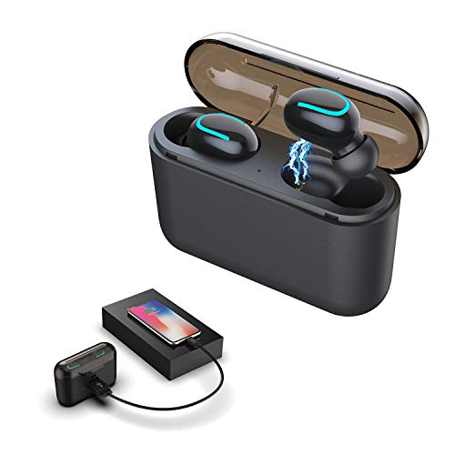 Wireless Earbuds YEMON Bluetooth5.0 Earphones With 1500mAh Powerbank Chargering case True Wireless Noise-Canceling Bluetooth Headset Mini in-Ear Headphones HD Hi-Fi Stereo Sound Can charge Cell Phones