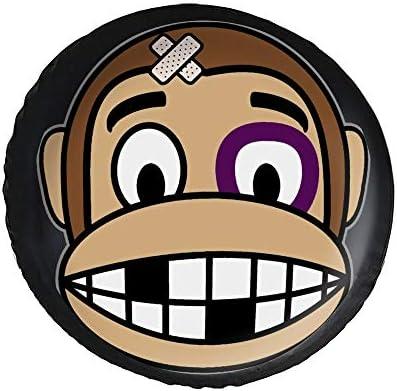 サル Monkey タイヤカバー タイヤ保管カバー 収納 防水 雨よけカバー 普通車・ミニバン用 防塵 保管 保存 日焼け止め 径83cm