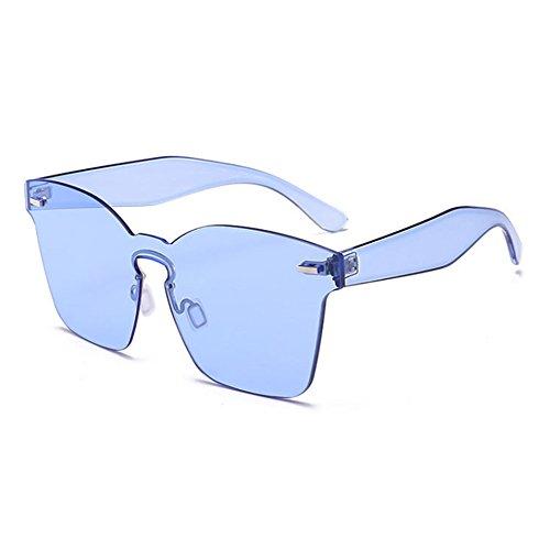 lunettes non polarisées Lunettes carrées Huateng UV400 Blau intégrées mode de classique de soleil IzqxHX