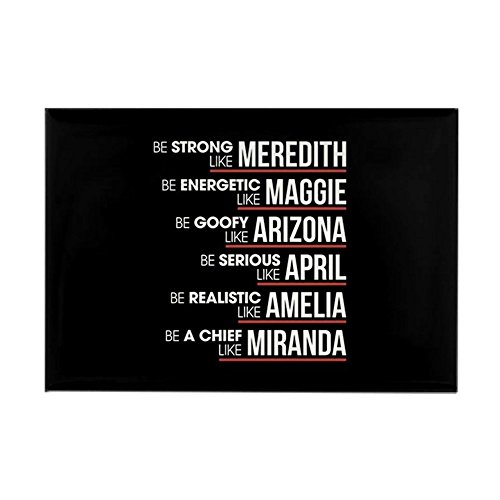 CafePress Be Strong Like Meredith Rectangle Magnet, 2