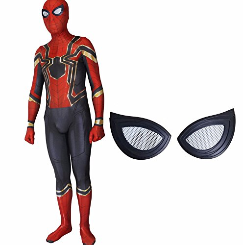 Alwoe Lycra Spandex Unisex 3D Style Halloween Cosplay Costumes (All Of The Spiderman Costumes)
