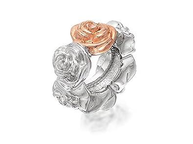 Clogau Beads Womens Silver 9ct Rose Gold Secret Garden Fairy Dropper Bead Charm iDp6R3c
