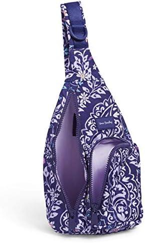 Vera Bradley Recycled Lighten Up Reactive Mini Sling Backpack, Belle Paisley