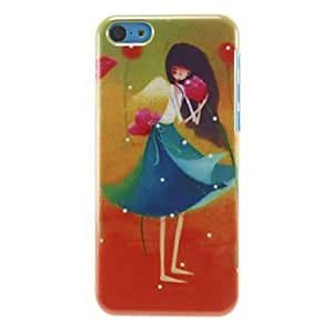 BuW Long-hair Girl and Flowers Pattern Hard Case for iPhone 5C, iphone 5c cases, iphone cases, iphone 5c case, 5c cases, iphone 5c covers Kimberly Kurzendoerfer