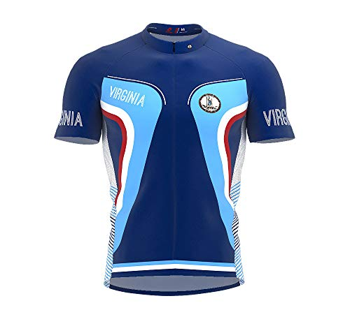 - ScudoPro Virginia Bike Short Sleeve Cycling Jersey for Men - Size M