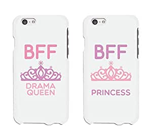 Cute Best Friend Phone Cases - Drama Queen and Princess Phone Covers for iphone 4, iphone 5, iphone 5C, iphone 6, iphone 6 plus, Galaxy S3, Galaxy S4, Galaxy S5, HTC M8, LG G3 by ruishername