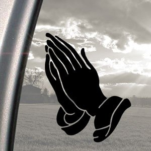 Amazon.com: PRAYING HANDS CHRISTIAN Black Decal Truck