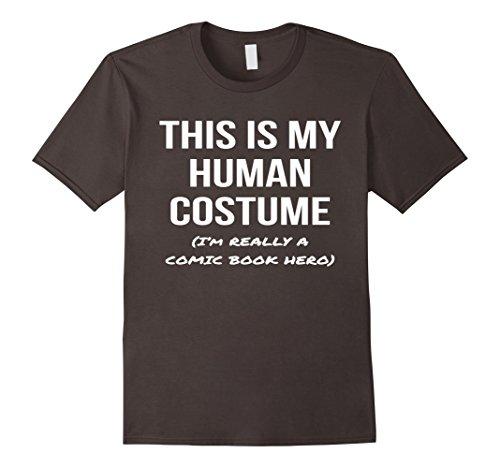 Mens Human Costume I'm a Comic Book Hero Shirt Halloween Tee 2XL (Comic Book Costumes Male)