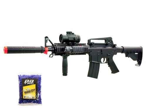 BBTac BT-M83 LPEG Full Auto Electric Power 250 FPS AEG Airsoft Gun with 1000 .12g BBs 6mm Package