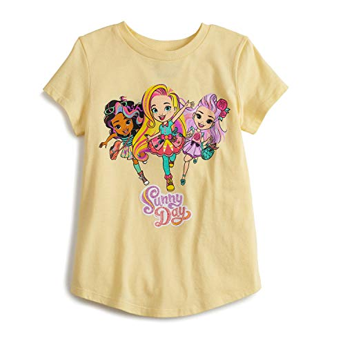Jumping Beans Little Girls' 4-12 Sunny Day Group Tee 6 Yellow