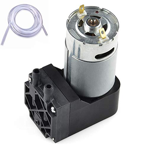 Vacuum Pump 12V Mini Diaphragm Air Compressor with Silicone Tube - Miniature Vacuum Pump