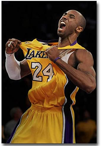 Kobe Bryant Shout Basketball Sports Poster No Frame (24 x 36)