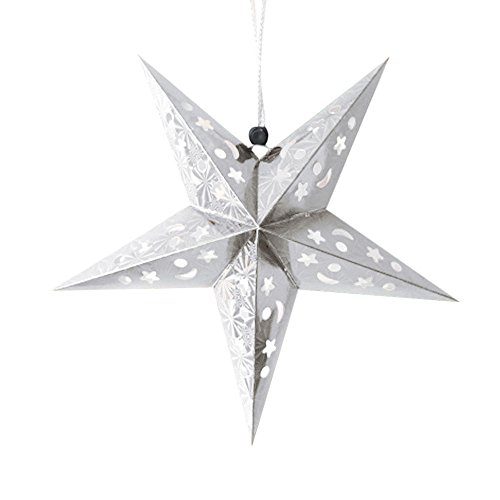 - Christmas Ball Ornaments Romantic Xmas String Hanging Charm Star Party Decoration Christmas Tree Ornament Home Ornaments Wall Decors (Silver)