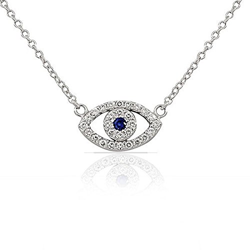 Sterling Silver White Pendant Necklace product image