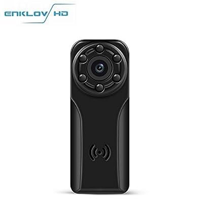1080P Spy Hidden Camera -ENKLOV Mini Portable Spy Voice Video Recorder Camera with Night Vision,Motion Detection,120 Degree Wide Angle Len,Indoor/Outdoor Use of Pocket DV from ENKLOV