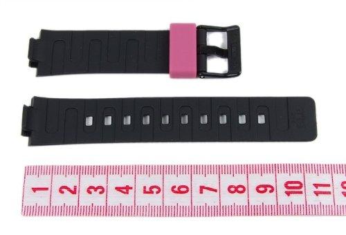 Casio watch strap watchband Resin Band black/Pink LDF-52-1AEF LDF-52 by Casio (Image #2)