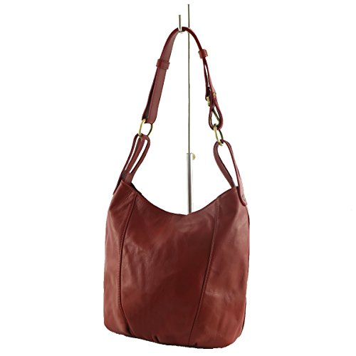 Per Rosse Tracolla Borsa Mega Donne Toscana Pelle In A Le w4RqzxRY