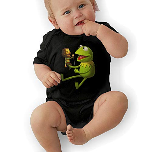 Lemonnnen Kermit The Frog Baby Boy Girl Jersey Bodysuit Black - Ribbed Jersey Gap