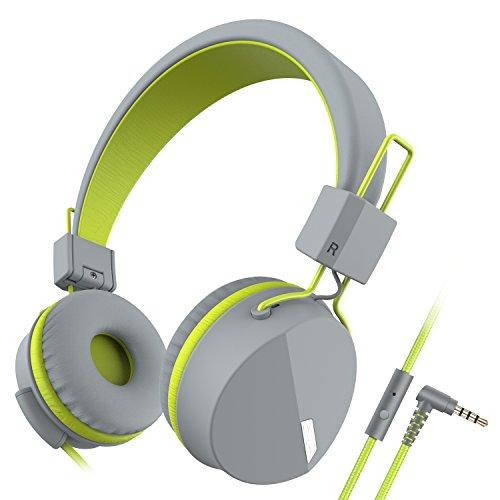 Darkiron Headphones Microphone Foldable Computer