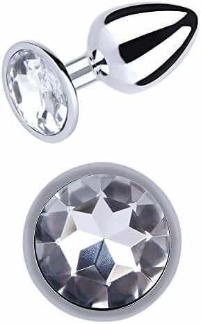 IRRANA Large Suppository Gem Stimulation Jeweled Butt Plug Personal Massage Toys for Beginner