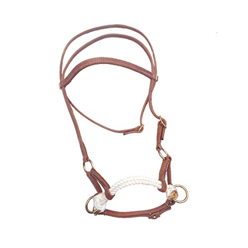 Double Rope Side Pull - Western Horse Headstall Leather Double Rope Side Pull