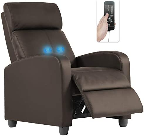 Best living room chair: OffiClever Massage Home Theater Modern Reclining Winback Single Sofa Reading Chair Easy Lounge