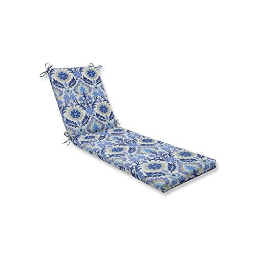 Pillow Perfect Outdoor/Indoor Santa Maria Azure Chaise Lounge Cushion 80x23x3 (Bohemian Lounge Chaise)
