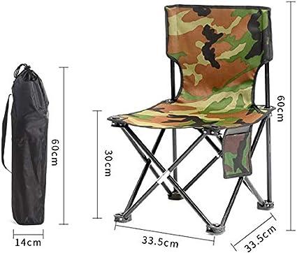 Silla portátil Beach ocio Viajes Pequeño lazo caballo Pesca picnic taburete con Volver arte del bosquejo pequeño banco de sillas al aire libre plegables de carga máxima de 130 kg con sillas multiuso,