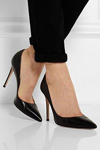 Tacco Decolte Tacchi a High Scarpe Sexy col tacco Alto Heels Nero donna Spillo Donna EDEFS qpzAH