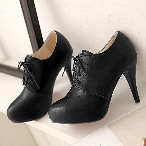 Lace Fashion Pumps Zanpa up Women Top High Black 4 U1wXxp6qXv