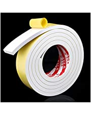 Enkelzijdige schuimtape,schuimtape, schuimtape,Dikke witte schuim Single-sided Rubber deuren en ramen Crash Seal Acoustic Shock-absorberende Buffer Sponge Strip EVA Foam Rubber 6mm7mm8mm Dikke