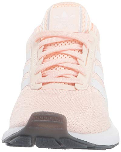 adidas Originals Women's Swift Essential Sneaker, Pink Tint/White/Silver, 11