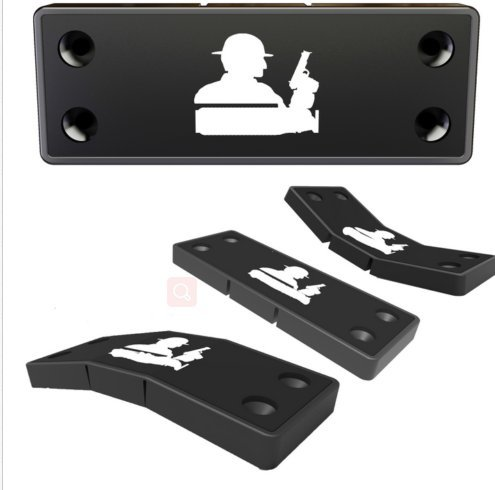 zzuus Lurk Gun Magnet Mount with 3M Tape & Holster Multi Angle Hide Adjustable Design never damage car or desk-Rubber Coated 43 Lbs Rated -concealed holder for Handgun,fit for all surface