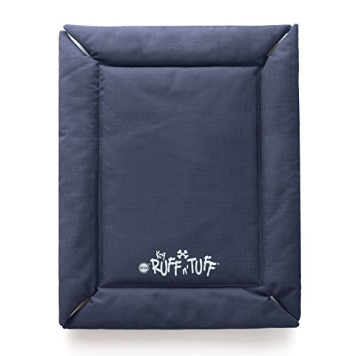 K&H Pet Products K-9 Ruff n' Tuff Crate Pad Large Navy Blue (25'' x 37'') - 1260 Denier Rip-Stop Polyester for Pets That Need Extra Tough Fabric by K&H Pet Products (Image #4)