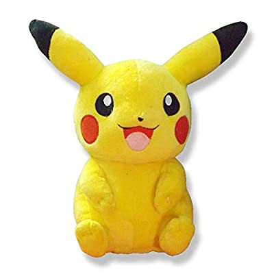 PAPWELL 20th Anniversary Pikachu Plush Pokemon Anime Character Movie Medium Size 8.7 inch/ 22cm Yellow Cute Stuffed Animal Soft Cotton Toy Birthday Christmas Collection Gift for Kids