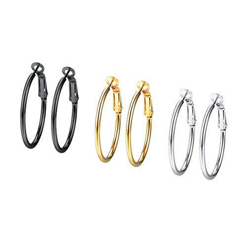 Small Hoop Earrings,Earring Circle Round,Hoop Earings for Girls,Earings Hoop for Women,Basketball Wives Earrings,3PSE3030JGH