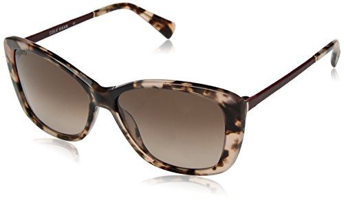 Cole Haan Women's Ch7005 Plastic Butterfly Cateye Sunglasses, Blush Tortoise, 58 - Sunglasses Women Haan Cole