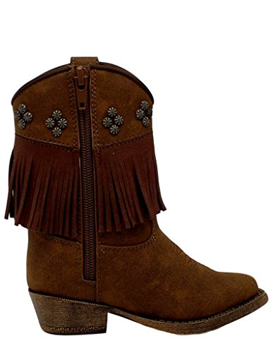 Western Girl's Toddler Annabelle Boot Toddler M amp;F Baby M Brown 4 gFxw6UU4nq