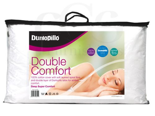 Dunlopillo Double Comfort Soft Fibre and Breathable Latex Pillow by Dunlopillo by B00I7USKUM