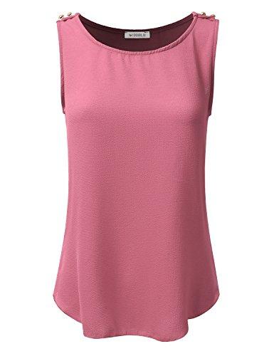Pink Sleeveless Blouse - 3