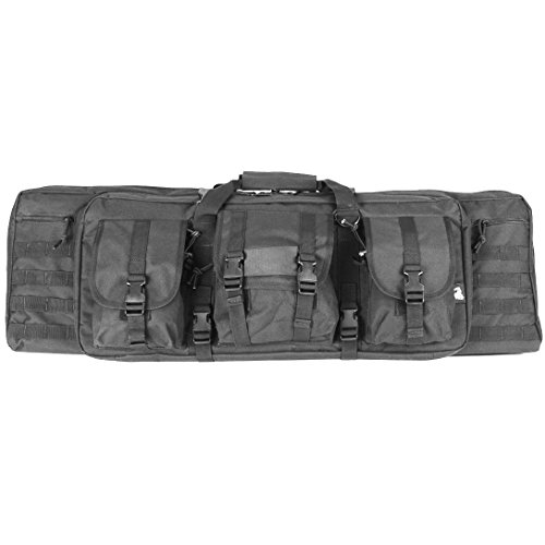 Lancer Tactical 600 Denier Polyester Double Carbine Soft Case Accessory  Pouches MOLLE Webbing Secondary Gun Compartment fc60297452a6d