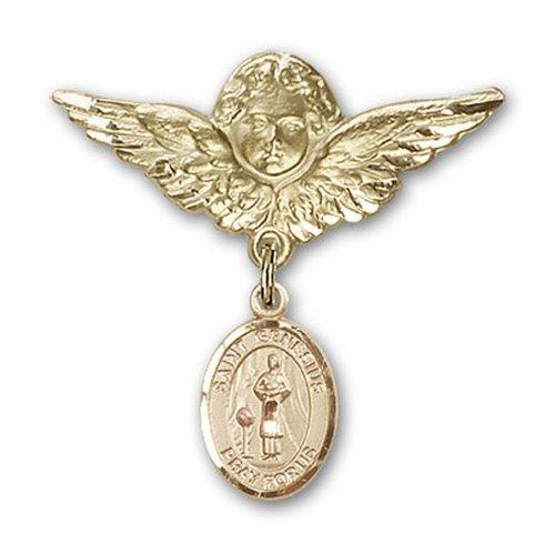 Icecarats Or Bijoux De Créateurs Rempli R. Genès De Rome Charme Ange Broche De Badge 1 1/8 X 1 1/8