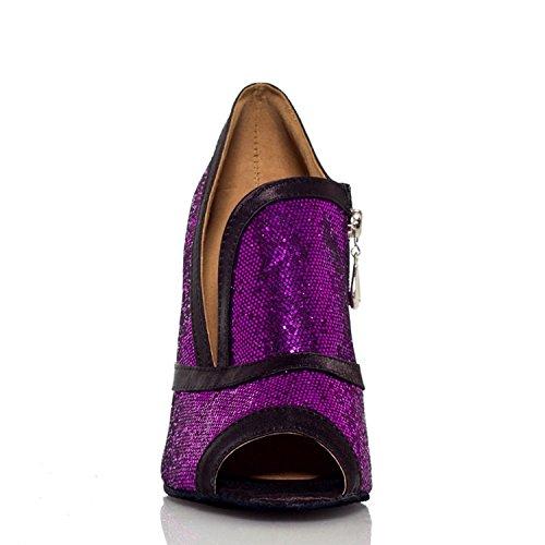 Miyoopark ,  Damen Tanzschuhe Purple-10cm heel