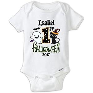 3a0be1f1 Juju Apparel Custom Halloween Baby Bodysuit, First Halloween Onesie, My  First Halloween shirt,