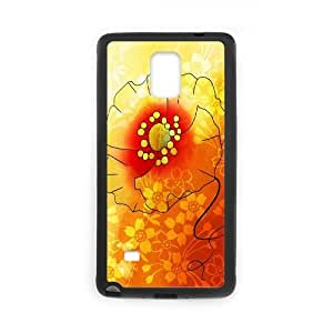 Samsung Galaxy Note 4 Cases Flower 156 Cheap for Boys, Phone Case for Samsung Galaxy Note 4 Phone Cheap for Boys [Black]