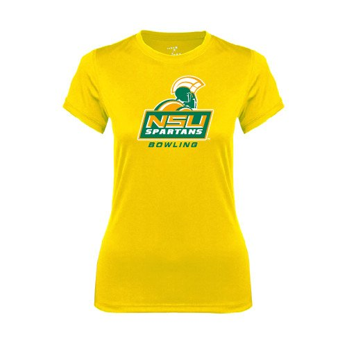 Norfolk State Ladies Syntrel Performance Gold Tee 'Bowling'